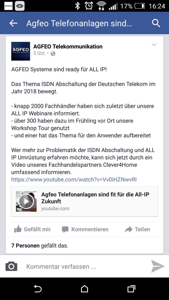 Agfeo Facebook